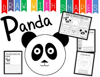 Learn to Draw with Shapes - Letter P Panda