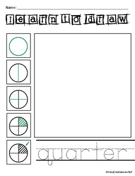 Learn to Draw with Shapes - Letter Q Quarter