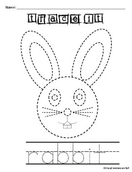 Learn to Draw with Shapes - Letter R Rabbit