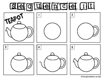 Learn to Draw with Shapes - Letter T Teapot