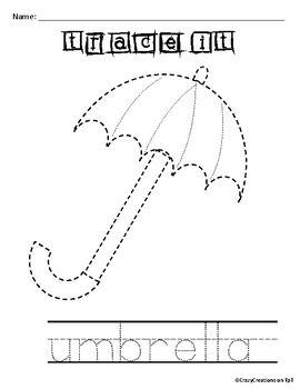 Learn to Draw with Shapes - Letter U Umbrella