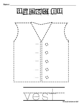 Learn to Draw with Shapes - Letter V Vest
