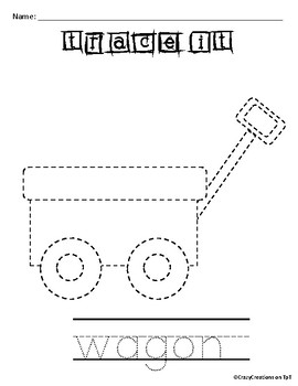Learn to Draw with Shapes - Letter W Wagon
