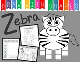 Learn to Draw with Shapes - Letter Z Zebra