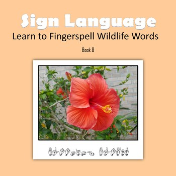 Learn to Fingerspell Wildlife Words, Book 8