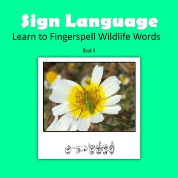 Learn to Fingerspell Wildlife Words, Book 4