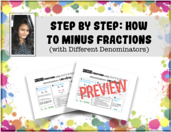 Learn to Minus Fractions Like A Boss!!!