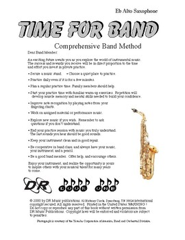 Learn to Play Alto Sax - 48 Pages - Illustrations, Fingering Charts, Exercises.