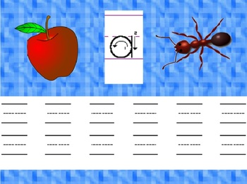 Learn to Print Manuscript Lowercase Letters Using Alphabet Animation