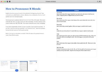 Learn to Pronounce R Blends in English