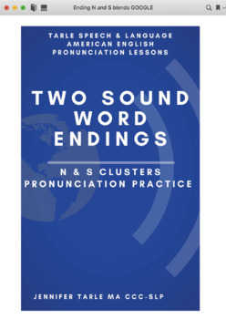 Learn to Pronounce Two Sound English Word Endings - N and S Blends