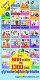 Learn to Read Alphabet Activity Pack