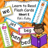 Learn to Read Flash Cards: Short E Word Families
