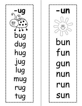 Learn to Read Flash Cards: Short U Word Families