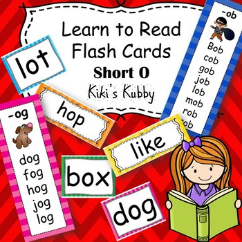 Learn to Read Flash Cards: Short O Word Families