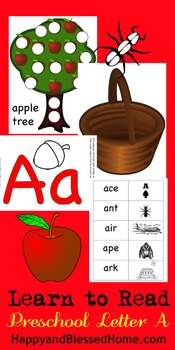 Learn to Read Letter A Activity Pack