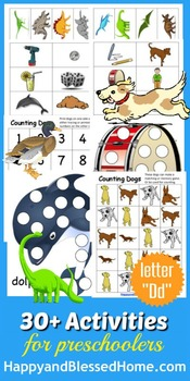 Learn to Read Letter D Activity Pack