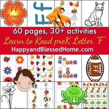 Learn to Read Letter F Activity Pack