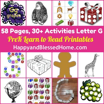 Learn to Read Letter G Activity Pack