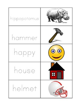Learn to Read Letter H Activity Pack