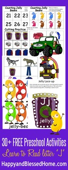 Learn to Read Letter J Activity Pack