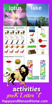 Learn to Read Letter L Activity Pack