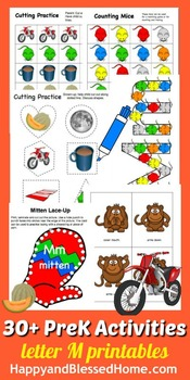 Learn to Read Letter M Activity Pack