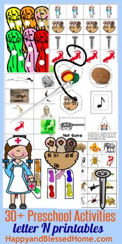 Learn to Read Letter N Activity Pack