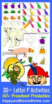 Learn to Read Letter P Activity Pack