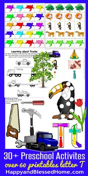 Learn to Read Letter T Activity Pack