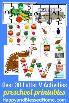 Learn to Read Letter V Activity Pack