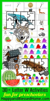 Learn to Read Letter W Activity Pack