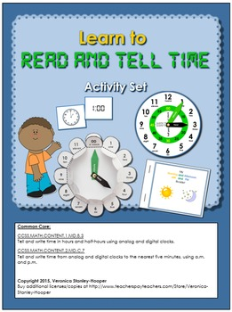 Learn to Read and Tell Time- Complete set of 4 hands-on Activities