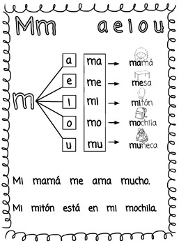 Learn to Read in Spanish! Las silabas - Syllables Level 1