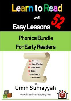 Learn to Read with 54 Easy Lessons - Phonics Bundle for Early Readers
