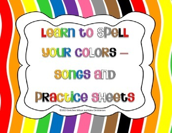 Learn to Spell the Colors with these Songs!