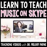 Learn to Teach Music Lessons on Skype {Training Videos for Music Teachers}