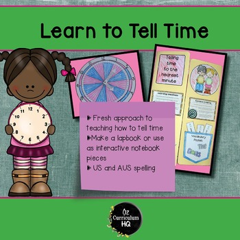 Learn to Tell Time Lap Book or Interactive Notebook
