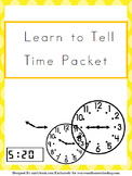 Learn to Tell Time Packet
