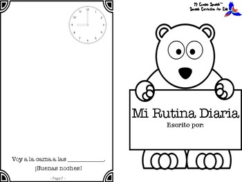 Telling Time & My Daily Routine in Spanish! (Worksheets & Activity)