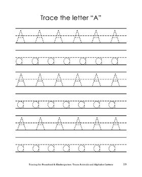 Learn to Trace: Animals and Alphabets for Preschool and Kindergarten