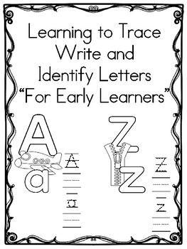 Learn to Trace  Write and Identify Letters (Early learning)
