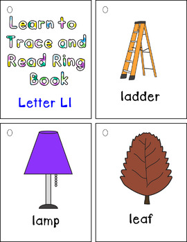 Learn to Trace and Read Ring Book Ll