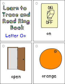 Learn to Trace and Read Ring Book Oo