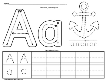 Learn to Trace and Write the Alphabets (NO PREP)
