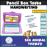 Learn to Write ABC's Sea Animal Themed Handwriting Task Cards for Pencil Box