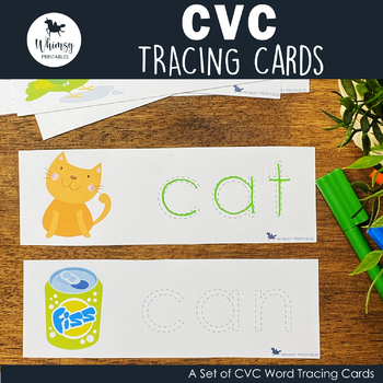 Learn to Write CVC Words CVC Tracing Cards