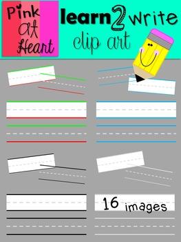 Learn 2 Write Clip Art FREEBIE