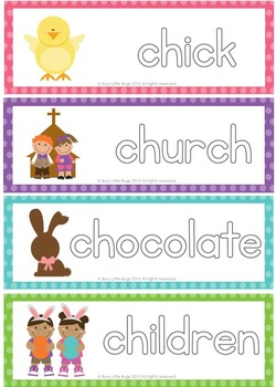 Learn to Write Easter Words - Easter Vocabulary Write & Wipe Cards