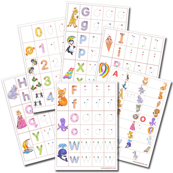 Learn to write - Alphabet cards - English